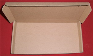 15 U.K. Large Letter Stamp Sized Postal Boxes 228mm x 110mm x 22mm : Posted Flatpack U.K. Only