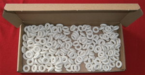 200 Reproduction White 15mm Outside Diameter Smooth Dinky Toys Tyres / Tires