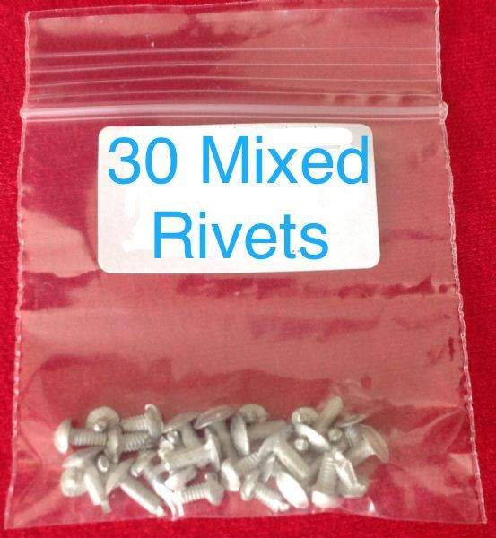 30 Dinky Toys  / Corgi Toys / Matchbox Toys Baseplate Mixed Bag of 30 Rivets [ Per Bag ]