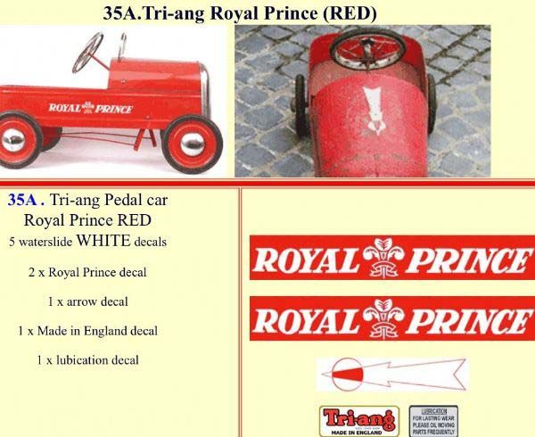 35A Tri-ang Royal Prince (RED)