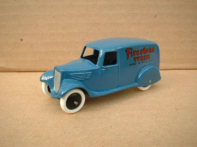 "A DINKY TOYS COPY MODEL 28 SERIES TYPE 2 DELIVERY VAN ""FIRESTONE TYRES"""