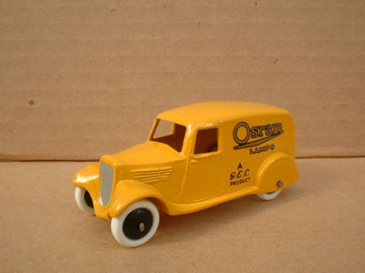 "A DINKY TOYS COPY MODEL 28 SERIES TYPE 2 DELIVERY VAN ""OSRAM LAMPS"""