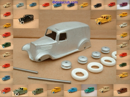 "A DINKY TOYS COPY MODEL 28 SERIES TYPE 2 DELIVERY VAN ""SHREDDED WHEAT"" [ IN KIT FORM ]"
