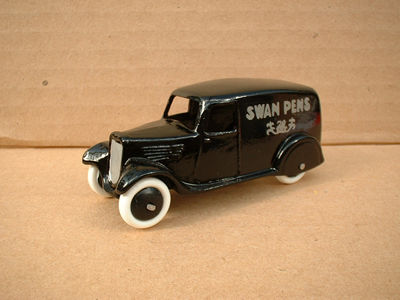 "A DINKY TOYS COPY MODEL 28 SERIES TYPE 2 DELIVERY VAN ""SWAN PENS"""