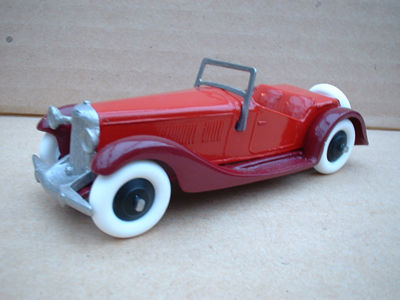 A DINKY TOYS COPY MODEL 36E 2 SEATER SALMSON RED AND BURGUNDY