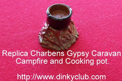 CHARBENS REPLICA GYPSY CARAVAN (The Caravans - The Campfire Cooking Pot -Painted - Price Each)
