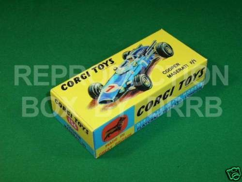 Corgi #156 Cooper Maserati F1- Reproduction Box