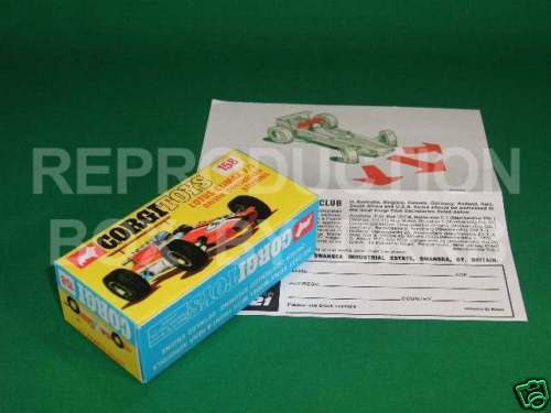 Corgi #158 Lotus Climax F1 - Reproduction Box