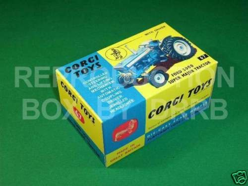 Corgi # 67 Ford 5000 Super Major Tractor - Reproduction Box