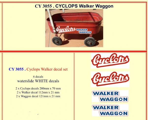 CY3055 Cyclops Walker decal set