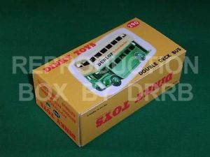 Dinky #290 (29c) Double Decker Bus - Reproduction Box ( Green and Cream )