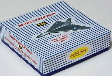 Dinky #749 / 992 Avro Vulcan Delta Wing Bomber - Reproduction Box
