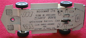Dinky Toys 103 - Original - SPC Spectrum Patrol Car Complete Baseplate Unit for restoration (Each)