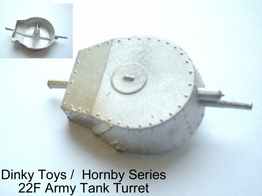 Dinky Toys 22F Army Tank Turret (Each)