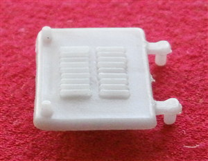 "Dinky Toys 279 Aveling-Barford Diesel Road Roller Grey Plastic Engine Cover late square type ""LEFT"""