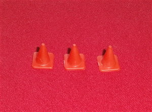 Dinky Toys 287 Transit Police plastic traffic cones (set of 3)