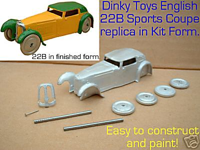 Dinky Toys copy model 22B Sports Coupe in kit form