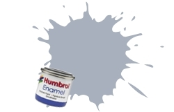 HUMBROL NO.127 SATIN US GHOST GREY ENAMEL PAINT 14ml