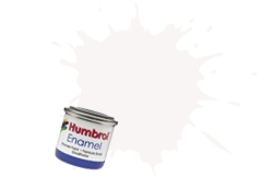 HUMBROL NO.130 SATIN WHITE ENAMEL PAINT 14ml