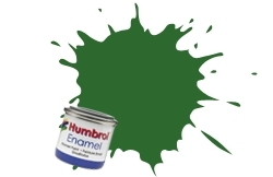 HUMBROL NO.131 SATIN GREEN ENAMEL PAINT 14ml