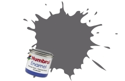 HUMBROL NO.140 CAMOUFLAGE GREY ENAMEL PAINT 14ml