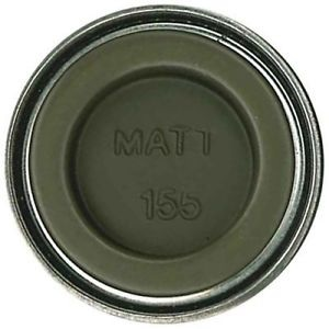 HUMBROL NO.155 MATT OLIVE DRAB ENAMEL PAINT 14ml