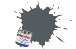 HUMBROL NO.67 MATT TANK GREY ENAMEL PAINT 14ml