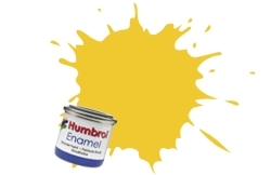 HUMBROL NO.69 YELLOW ENAMEL PAINT 14ml