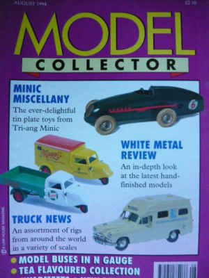 ORIGINAL MODEL COLLECTOR MAGAZINE August 1994