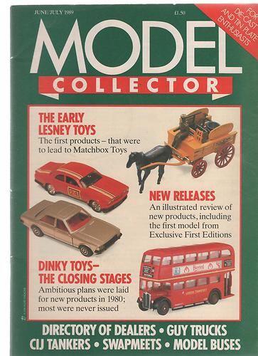 ORIGINAL MODEL COLLECTOR MAGAZINE June 1989 / July 1989