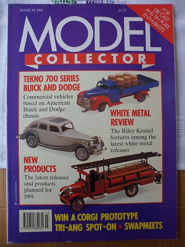 ORIGINAL MODEL COLLECTOR MAGAZINE March 1991