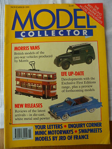 ORIGINAL MODEL COLLECTOR MAGAZINE November 1991