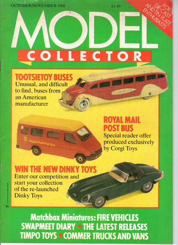 ORIGINAL MODEL COLLECTOR MAGAZINE October 1988 / November 1988