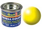 REVELL NO.312 LUMINOUS YELLOW SILK ENAMEL PAINT 14ml