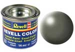 REVELL NO.362 GREYISH GREEN SILK ENAMEL PAINT 14ml