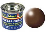 REVELL NO.381 BROWN SILK ENAMEL PAINT 14ml