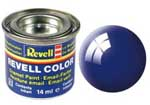 REVELL NO.51 ULTRAMARINE-BLUE GLOSS ENAMEL PAINT 14ml