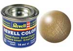 REVELL NO.92 BRASS METALLIC ENAMEL PAINT 14ml
