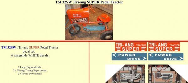 TM32SW Tri-ang SUPER Pedal Tractor