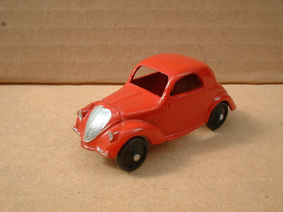 A DINKY TOYS COPY MODEL 35A SIMCA 5 [ FIAT TOPOLINO ] RED