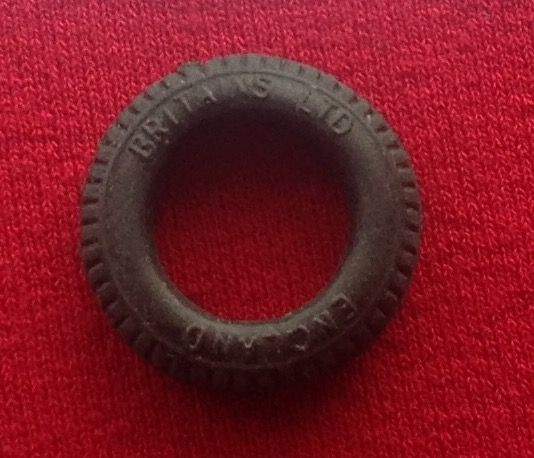 Britains tractor front treaded hollow fit 22mm O/D [ Per Tyre ]