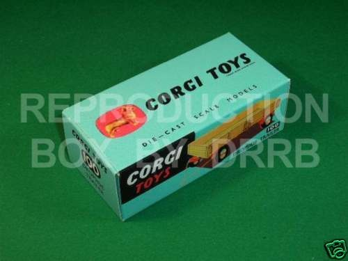Corgi #100 Dropside Trailer - Reproduction Box