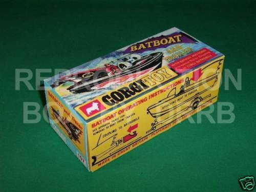 Corgi #107 Batboat & Trailer - Reproduction Box