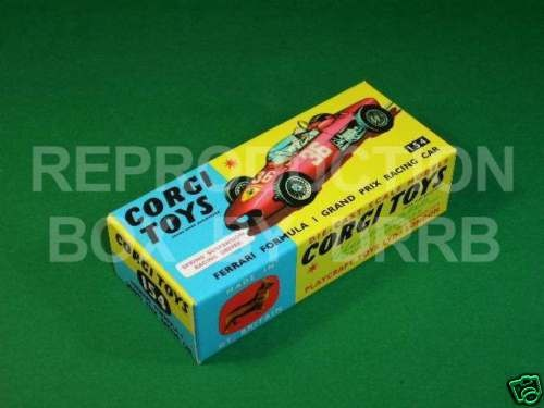 Corgi #154 Ferrari F1 Grand Prix - Reproduction Box
