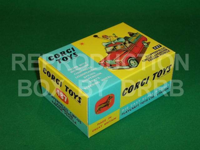 Corgi #487 Circus Land Rover Parade Vehicle - Reproduction Box
