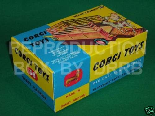 Corgi # 58 Beast Carrier - Reproduction Box