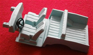 "Dinky Toys 192 - Original - Range Rover Interior Seating Unit - "" Light Blue "" (Each)"