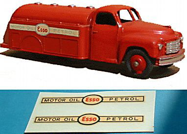 "Dinky Toys 442 Tanker ""MOTOR OIL ESSO PETROL"" TRANSFERS / DECALS"
