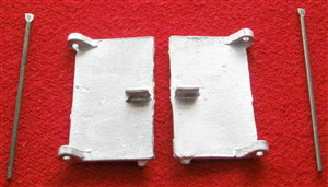 Dinky Toys 514 - 914 - 917 - 918 GUY Van pair of rear doors & pins (Price per set)