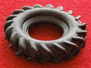 "Dinky Toys 693 7.2"" Howitzer Black Tractor Tread Tyre (Each)"